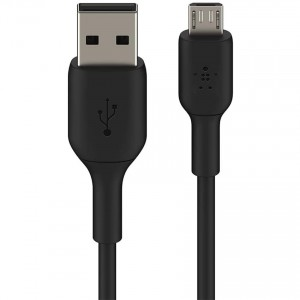 Kabel Belkin Boost Charge PVC USB-A do MicroUSB 1m, czarny