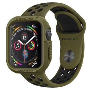 Etui Spigen Rugged Armor Apple Watch 5/4 - 44mm, zielone