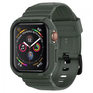 Etui Spigen Rugged Armor Pro Apple Watch 5/4 - 44mm, zielone