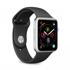 Pasek Puro Icon Apple Watch 44/42mm 2-size, czarne