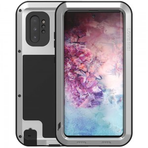 Etui Pancerne LOVE MEI Powerful Galaxy Note 10 Plus, srebrne
