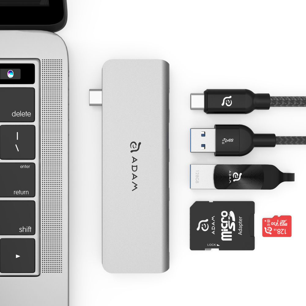 Hub Adam Elements Casa Hub 5E, USB 3.1 USB-C, SD, Micro SD