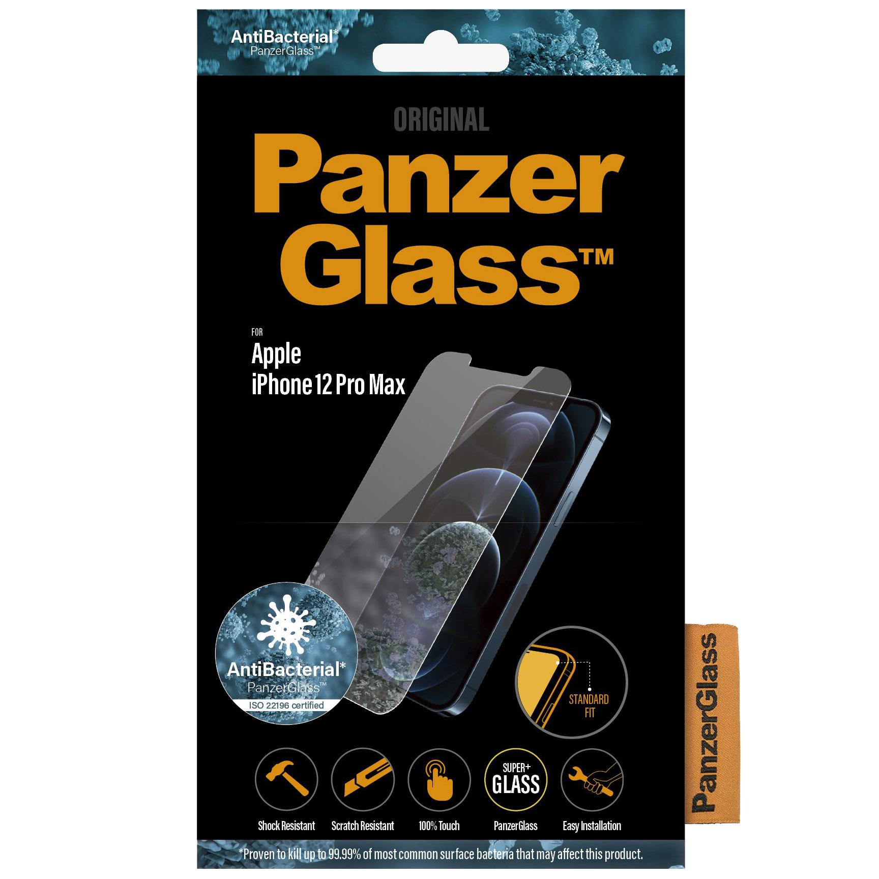 Antibakterielles Glas PanzerGlass Standard Fit