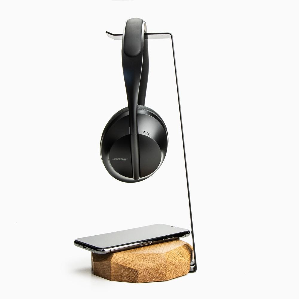 Bewood Wooden Qi 15W Induktive Ladegerät + Kopfhörer Stand