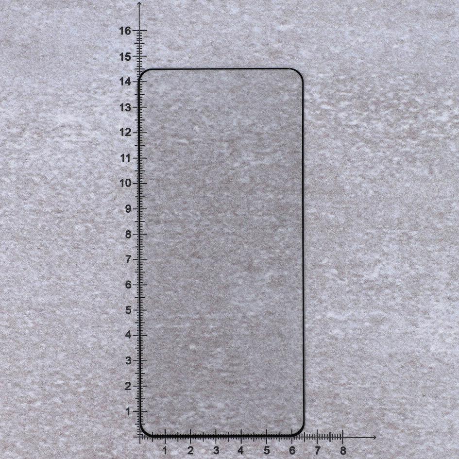 Gehärtetes Glas Bizon Glass Edge, schwarzer Rahmen